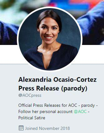 Fake News: Alexandria-Ocasio Cortez Did NOT Tweet a Press Release Demanding Return of Heroic ISIS Mother from Alabama -- Did NOT Say She Was Bigger Hero Than Our Veterans Either