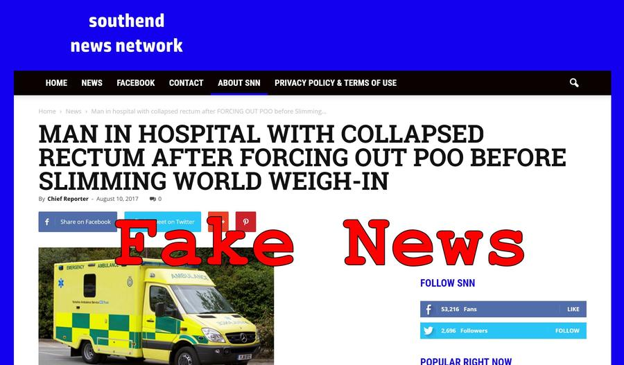 Fake News Man Not In Hospital With Collapsed Rectum After