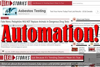 Lead Stories Now Tackling Fake News Faster Through Automation