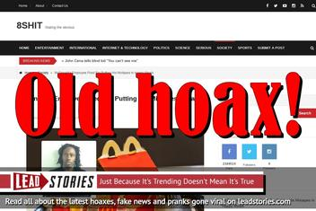 Fake News: NO McDonald's Employee Fired For Putting His Mixtapes In Happy Meals