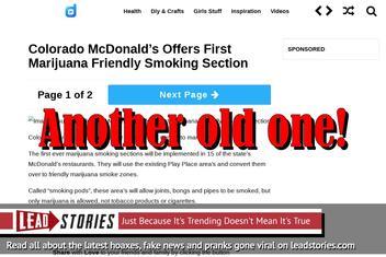 Fake News: Colorado McDonald's Offers First Marijuana Friendly Smoking Section