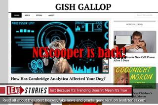"Defunct Fake News Website NCScooper Is Back As ""Gish Gallop"""
