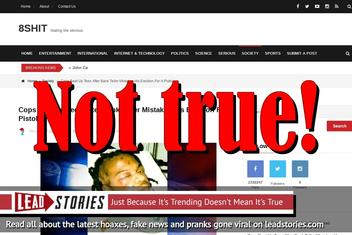 Fake News: Cops Did NOT Beat Up Teen After Bank Teller Mistakes His Erection For A Pistol