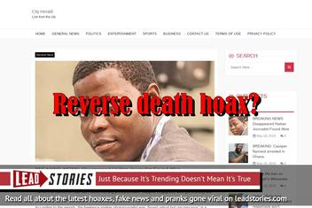 """Fake News: Disappeared Haitian Journalist NOT Found Alive (First """"Reverse Death Hoax""""?)"""