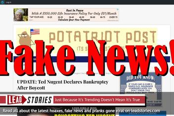 Fake News: Ted Nugent Did NOT Declare Bankruptcy After Boycott