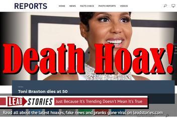 Fake News: Toni Braxton NOT Dead at 50