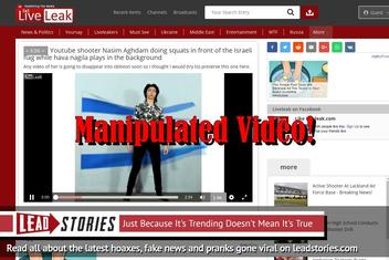 Fake Video: Youtube Shooter Nasim Aghdam NOT Doing Squats In Front Of Israeli Flag