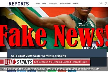 Fake News: Caster Semenya NOT Fighting For Her Life After Snake Bite