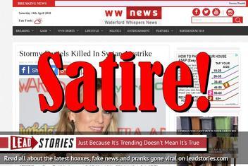 Fake News: Stormy Daniels NOT Killed In Syrian Airstrike