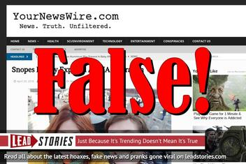 Fake News: Snopes NOT Finally Exposed As CIA Operation