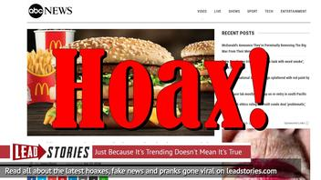 Fake News: McDonald's Did NOT Announce They're Permanently Removing The Big Mac From Their Menu
