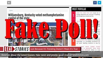 Fake News: Williamsburg, Kentucky NOT Voted Methamphetamine Capitol Of The State