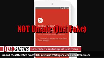 Fake News Site Pushing Michael J. Fox Death Hoax Marked As Unsafe By Google (Along With Lead Stories Debunk!)