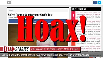 Fake News: Salem Oregon NOT to Implement Sharia Law