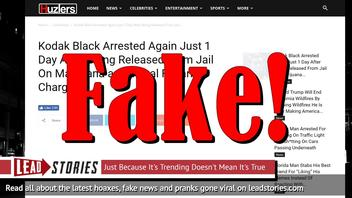 Fake News: Kodak Black NOT Arrested Again Just 1 Day After Being Released From Jail On Marijuana and Illegal Firearm Charges