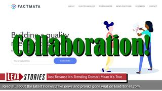 Lead Stories and Factmata Announce Collaboration In Fight Against Fake News