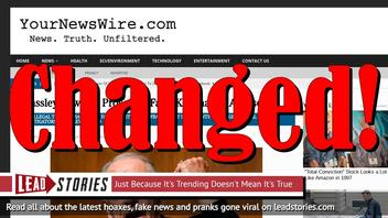 Fake News: Grassley Did NOT Vow To Imprison False Kavanaugh Accusers -- YourNewsWire Quietly Changes Headline