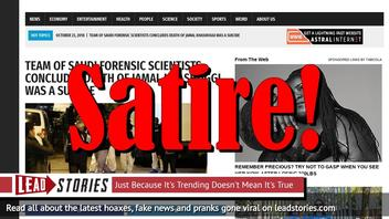 Fake News: Team of Saudi Forensic Scientists Did NOT Concludes Death of Jamal Khashoggi Was Suicide