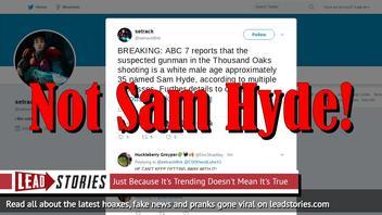 Fake News: Sam Hyde NOT The Shooter at Thousand Oaks Borderline Bar & Grill Mass Shooting