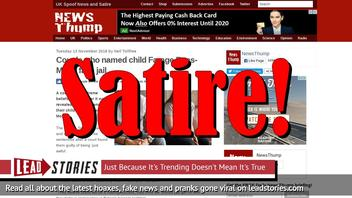 Fake News: Couple Did NOT Name Child Farage Rees-Mogg, NOT Facing Jail