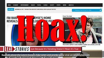 Fake News: FBI Raid at NSA Employee's Home Did NOT Reveal Over 16,000,000 'Dick Pics'