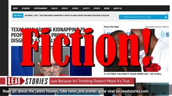 Fake News: Texas Man Did NOT Kidnap 79 People to Anally Probe Them Disguised As An Alien