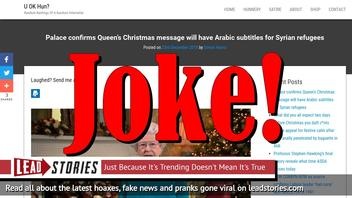 Fake News: Palace Did NOT Confirm Queen's Christmas Message Will Have Arabic Subtitles for Syrian Refugees
