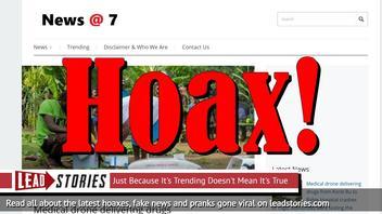 Fake News: Medical Drone Delivering Drugs Did NOT Crash In Togo