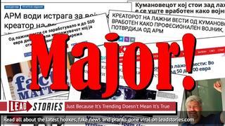Kumanovo-connection Update: Macedonian Fake News Purveyor Revealed To Be Military Intelligence Major