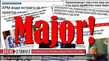 Kumanovo-connection Update: Macedonian Fake News Purveyor Revealed To Be Military Intelligence Major