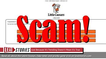 Fake News: Little Caesars NOT Giving Away 3 Large Pizzas to Everyone For 60th Anniversary