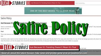 On The Difference Between Fake News and Satire -- Why Lead Stories Needed A Satire Policy
