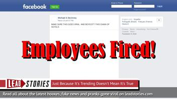 Fake News: DoubleTree Hilton in Texas Did NOT Post Sign About No Longer Serving Military Personnel -- It Was Elsewhere And Employees Responsible Were Fired