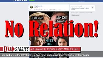 Fake News: Robert Soros (Son of George Soros) NOT Married To Sister of Adam Schiff