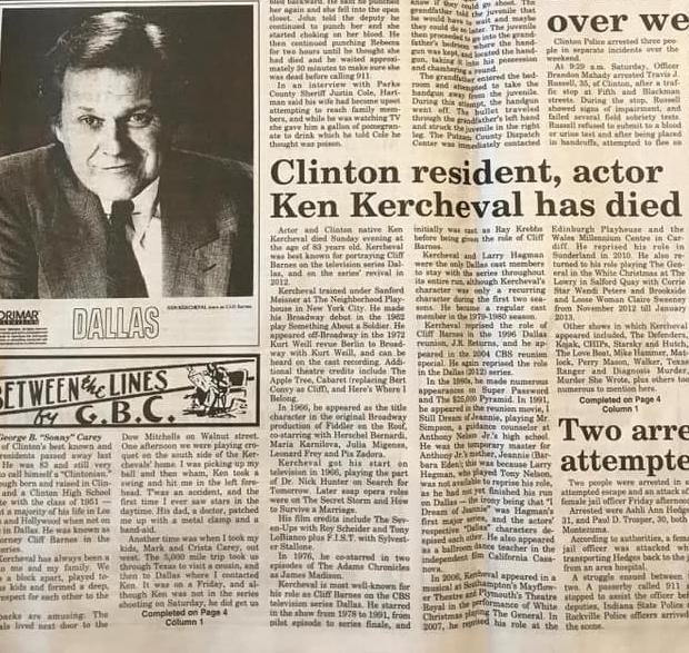 Not Fake News: 'Dallas' Actor Ken Kercheval Is Dead At 83
