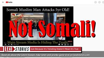 Fake News: Somali Muslim Man Did NOT Throw 5 Year Old Off The Third Floor Balcony At Mall Of America In Minnesota!