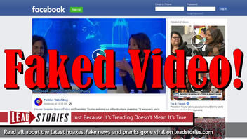 Fake News: Video Does NOT Show House Speaker Pelosi Drunk As A Skunk