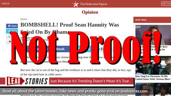 Fake News: NOT A BOMBSHELL! NOT Proof Sean Hannity Was Spied On By Obama