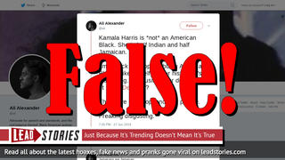 Fake News: Kamala Harris Is An American Black & She Was In 2nd Integrated Class Of Her School