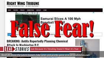Fake News: Antifa NOT Planning Chemical Attack In Washington D.C.