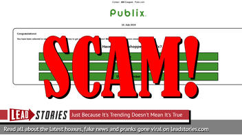 Fake News: Publix Is NOT Giving Everyone Free $80 Coupon To Celebrate 75th Anniversary