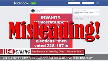 Fake News: Democrats Did NOT Vote 228-197 In Favor Of Allowing Illegals To Vote