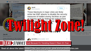 Fake News: Blackouts In Major Cities Are NOT Likely White Hat EMP Attacks In Wake Of Epstein Arrest