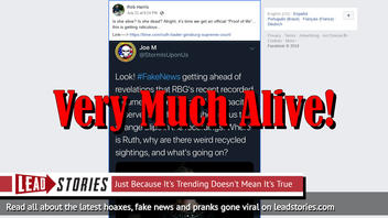 """Proof Of Life: Ruth Bader Ginsburg Confirms She's """"Very Much Alive,"""" Disproving QAnon Conspiracy Theory"""