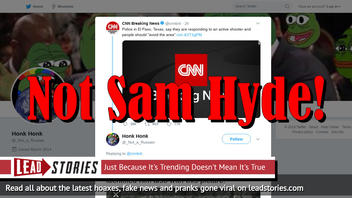 Fake News: Sam Hyde Is NOT The Shooter At The El Paso Walmart