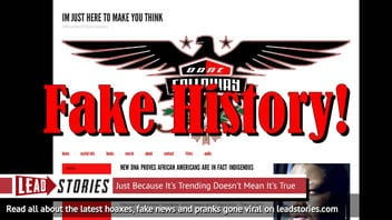 Fake News: New DNA Does NOT Prove 98% Of African Americans Are In Fact Indigenous Aborigines Of America