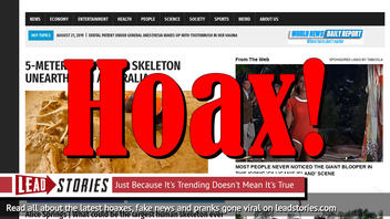 Fake News: NO 5-Meter Tall Human Skeleton Unearthed In Australia