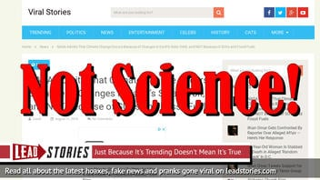 Fake News: NASA Does NOT Admit Climate Change Occurs Because Of Changes In Earth's Solar Orbit, Not Because Of SUVs And Fossil Fuels