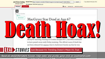 Fake News: MacGyver Star Richard Dean Anderson NOT Dead at Age 67
