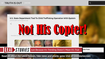 Fake News: U.S. State Department NOT Tied To Child Trafficking Operation With Epstein